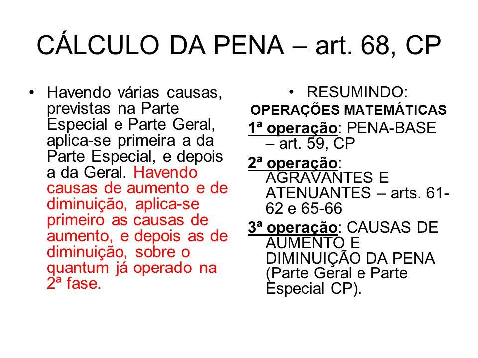 CÁLCULO DA PENA – art.