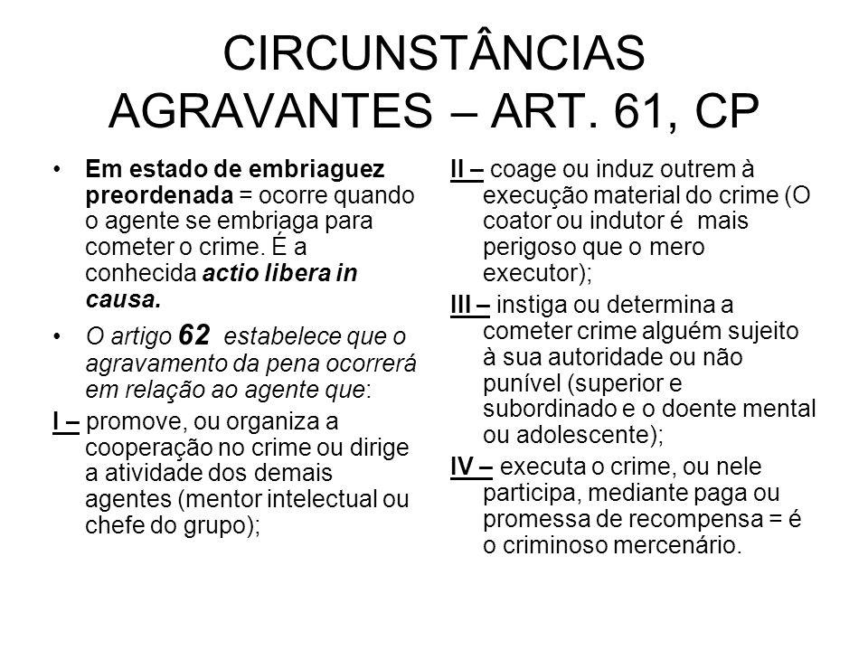 CIRCUNSTÂNCIAS AGRAVANTES – ART.