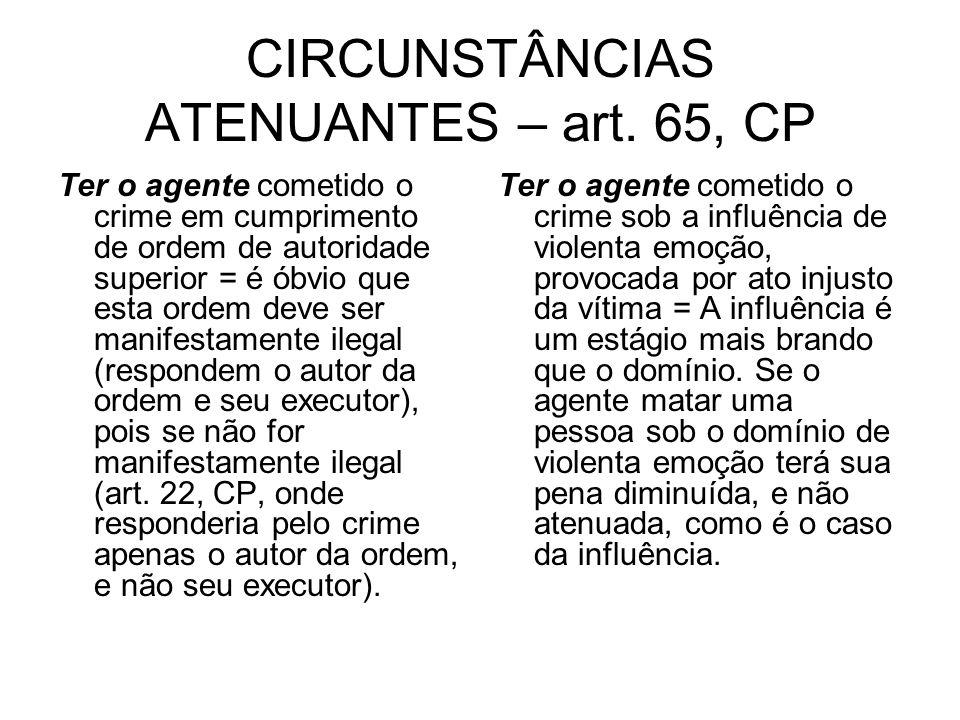CIRCUNSTÂNCIAS ATENUANTES – art.