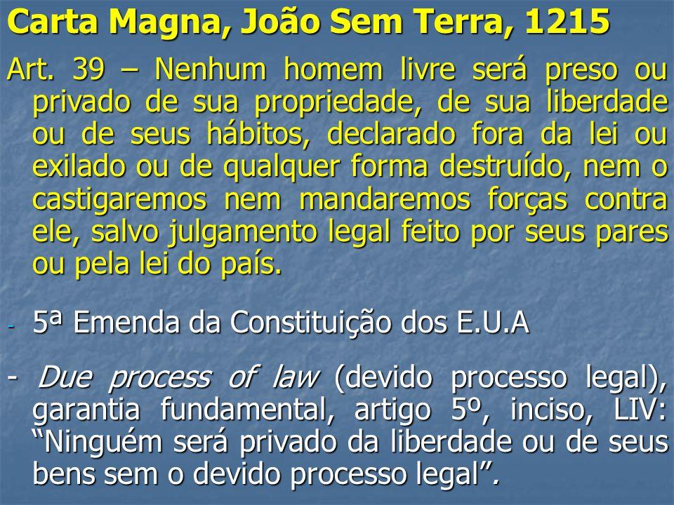 Carta Magna, João Sem Terra, 1215 Art.