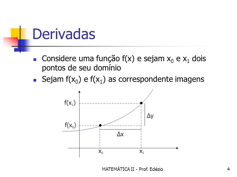 MATEMÁTICA II - Prof.