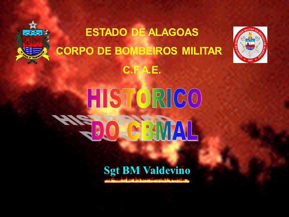 AS DENOMINAÇÕES DO CORPO DE BOMBEIROS NA PMAL FORMAÇÃO DE BOMBEIROS (Art.