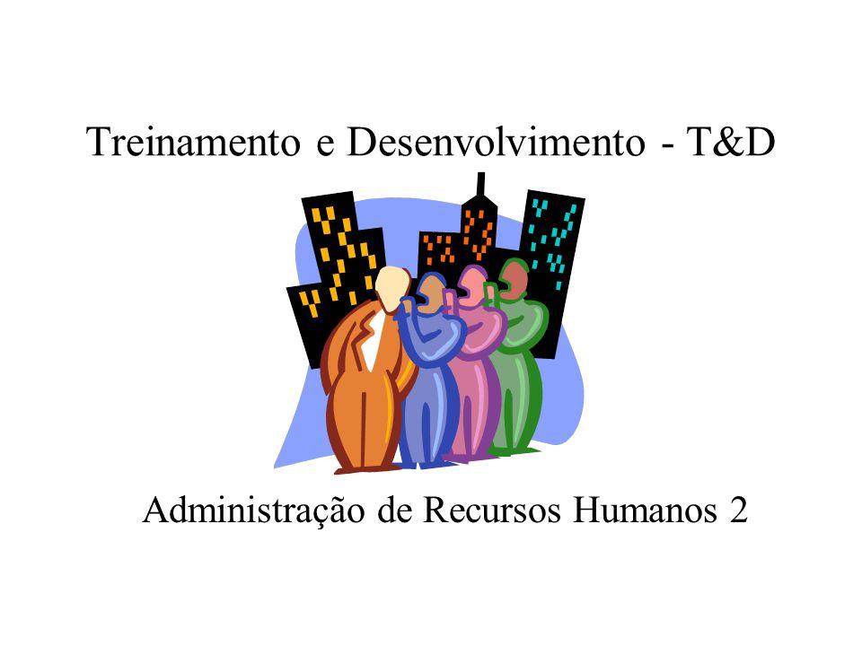 Treinamento e Desenvolvimento - T&D Administração de Recursos Humanos 2