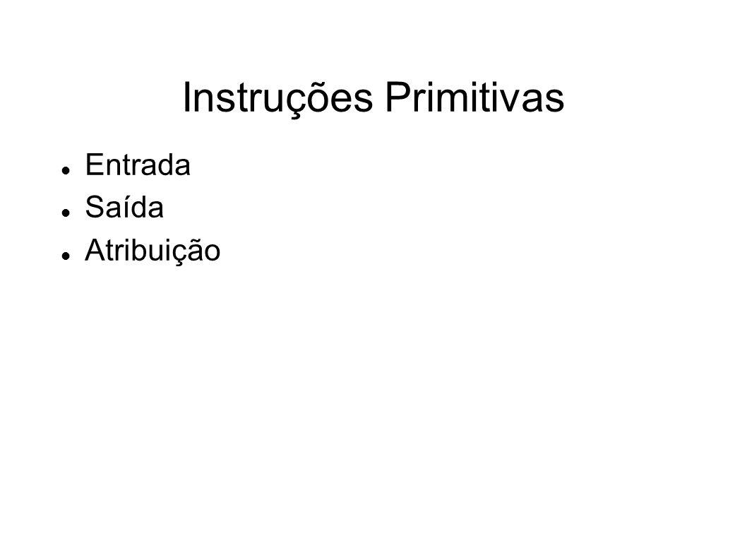 Instruções Primitivas Entrada Saída Atribuição
