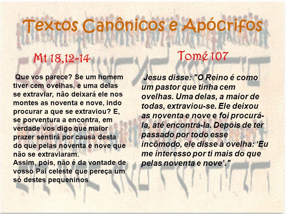 Textos Canônicos e Apócrifos Jesus disse: