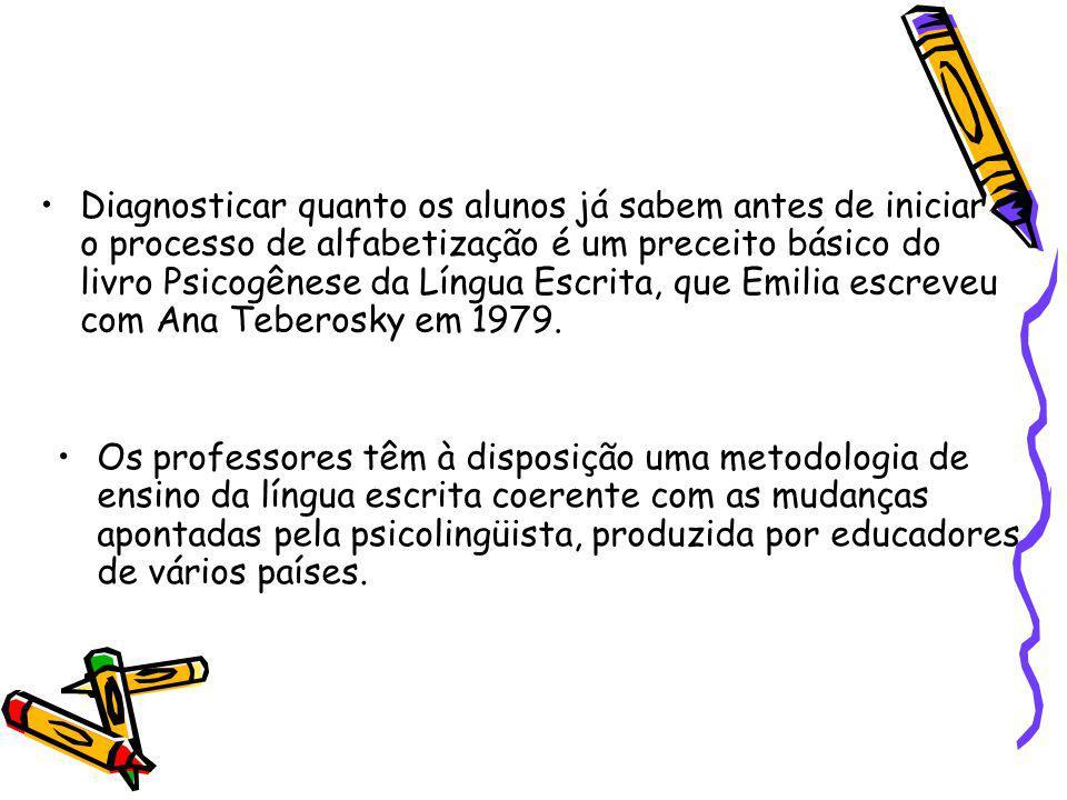 Diagnosticar quanto os alunos já sabem antes de iniciar o processo de alfabetização é um preceito básico do livro Psicogênese da Língua Escrita, que E