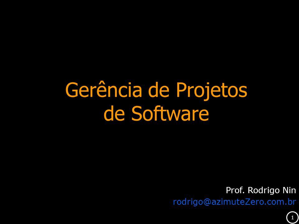 1 Gerência de Projetos de Software Prof. Rodrigo Nin rodrigo@azimuteZero.com.br