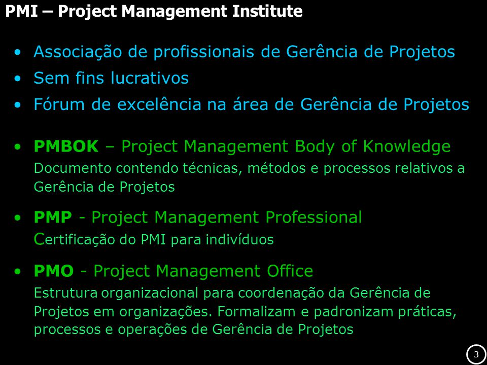 14 Adaptado de PMBOK 2000 - Project Management Institute Relacionamento entre as fases Projetos - Fases FASE 1 FASE 2 FASE 3