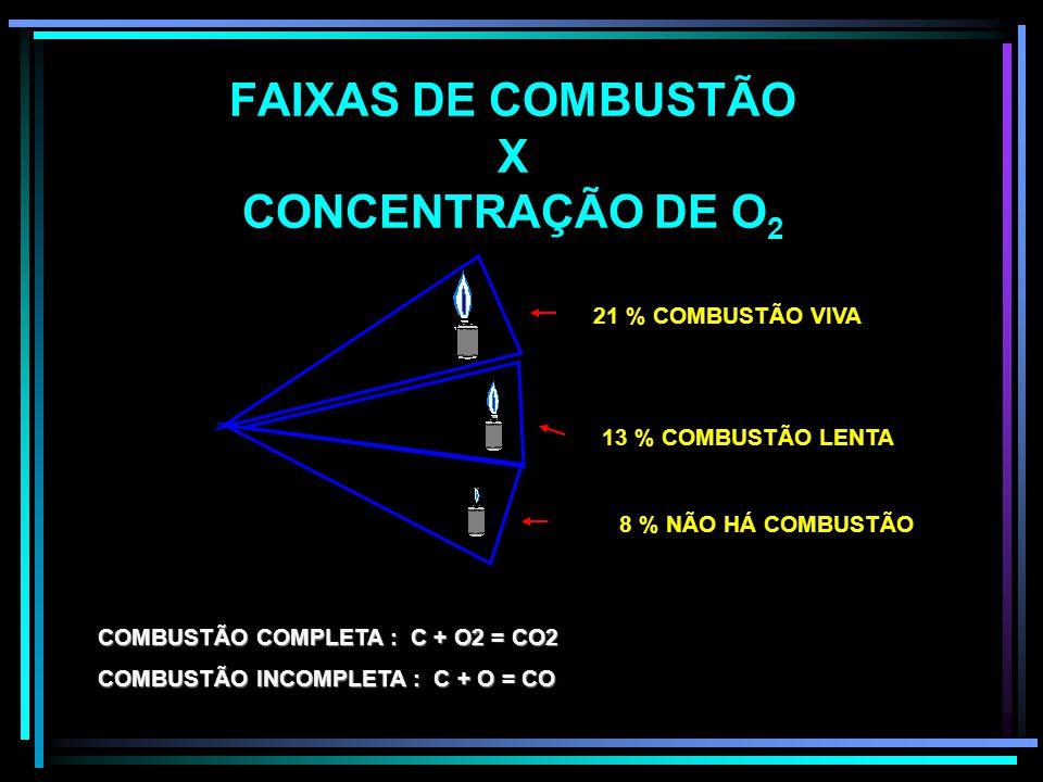 FORMAS DE COMBUSTÃO COMPLETAINCOMPLETA EXPONTÂNEA EXPLOSIVA EXPONTÂNEA