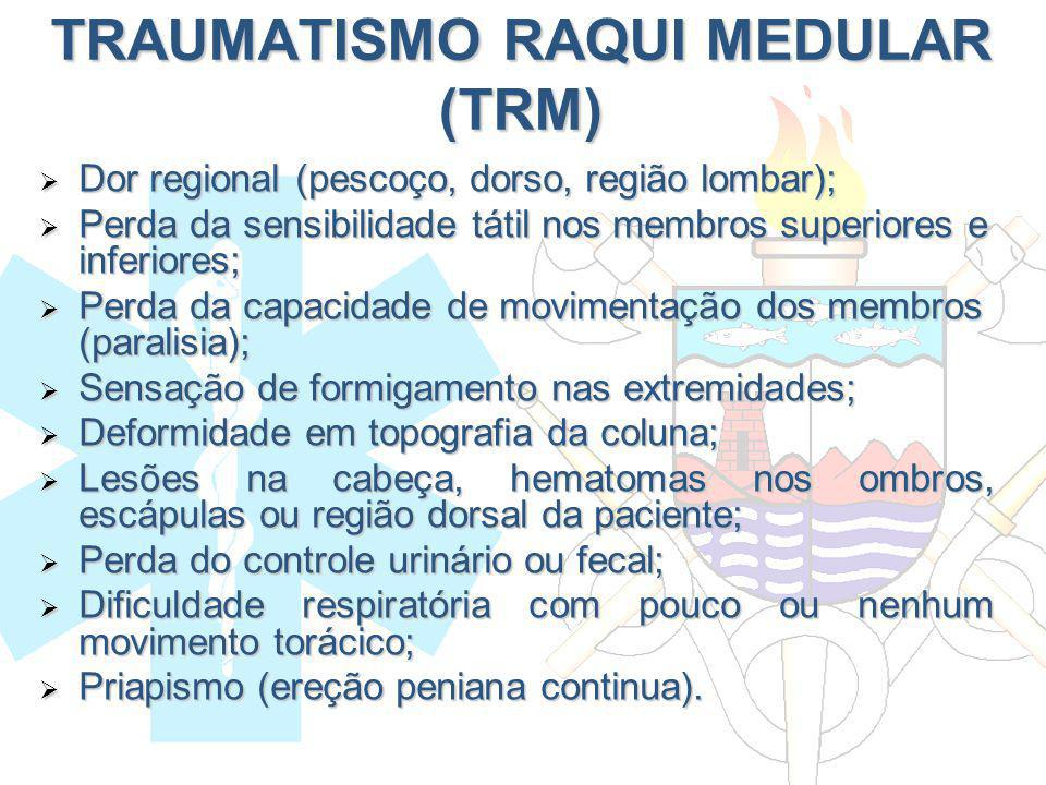 Dor regional (pescoço, dorso, região lombar); Dor regional (pescoço, dorso, região lombar); Perda da sensibilidade tátil nos membros superiores e infe