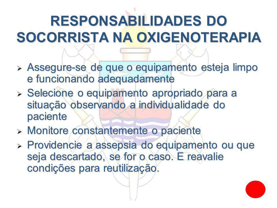 EQUIPAMENTOS E CONSCENTRAÇÃO DE OXIGÊNIO SEM OXIGÊNIO SUPLEMENTAR EQUIPAMENTO Concentração de O2 Boca-a-boca16% Boca-a-máscara16% Reanimador manual 21%