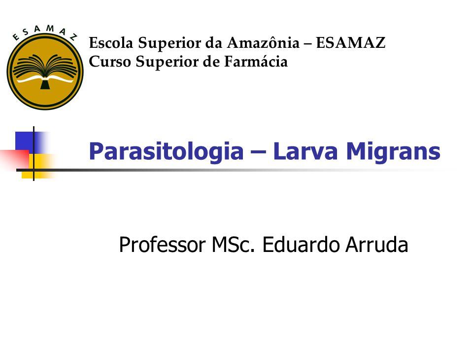 Parasitologia – Larva Migrans Professor MSc. Eduardo Arruda Escola Superior da Amazônia – ESAMAZ Curso Superior de Farmácia
