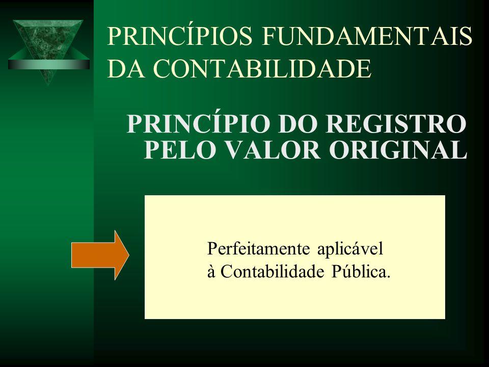 PRINCÍPIOS FUNDAMENTAIS DA CONTABILIDADE PRINCÍPIO DA ATUALIZAÇÃO MONETÁRIA A Lei 4.320/64 exige a observação de algumas condições e considerações para sua aplicação.