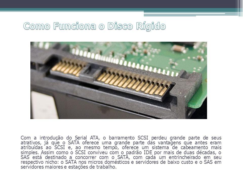 Com a introdução do Serial ATA, o barramento SCSI perdeu grande parte de seus atrativos, já que o SATA oferece uma grande parte das vantagens que ante