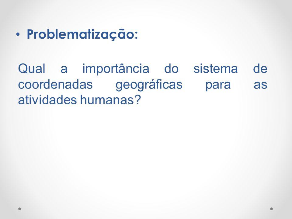 Problematização: Qual a importância do sistema de coordenadas geográficas para as atividades humanas?