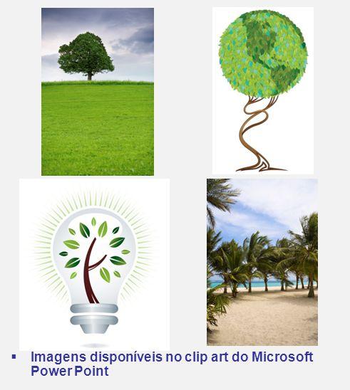 Imagens disponíveis no clip art do Microsoft Power Point