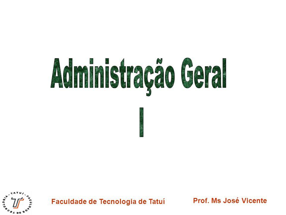 Faculdade de Tecnologia de Tatuí Prof. Ms José Vicente