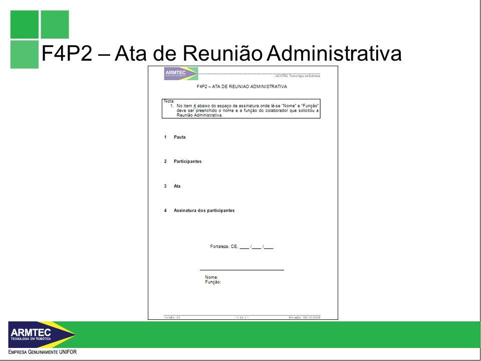 F4P2 – Ata de Reunião Administrativa