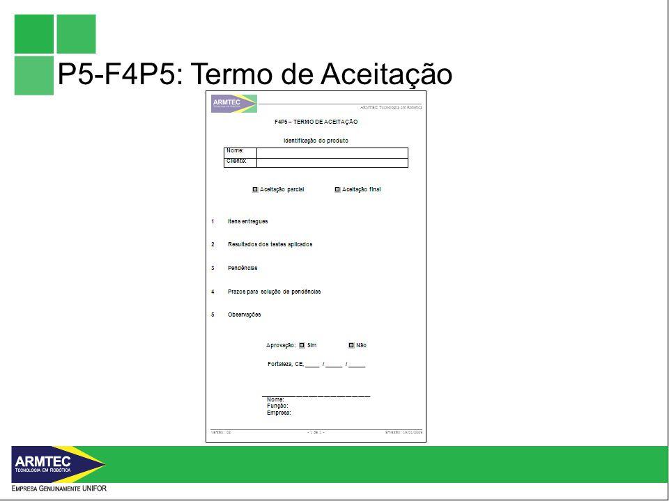 P5-F4P5: Termo de Aceitação