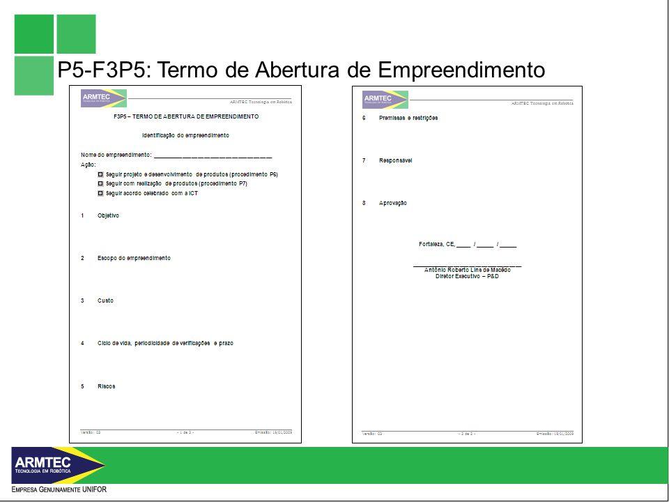 P5-F3P5: Termo de Abertura de Empreendimento