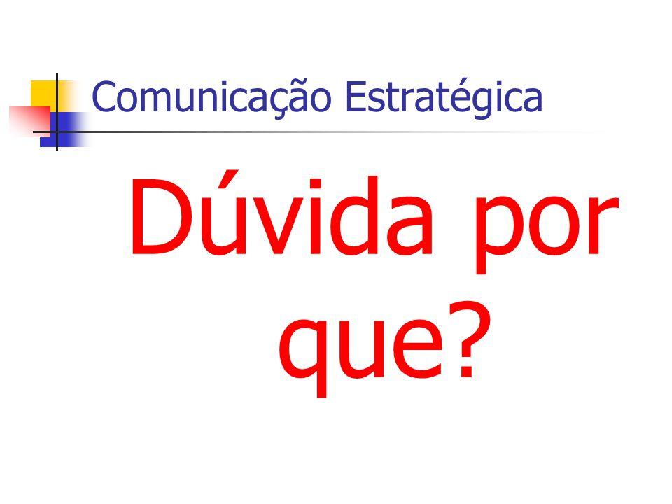 Comunicação Estratégica Dúvida por que?