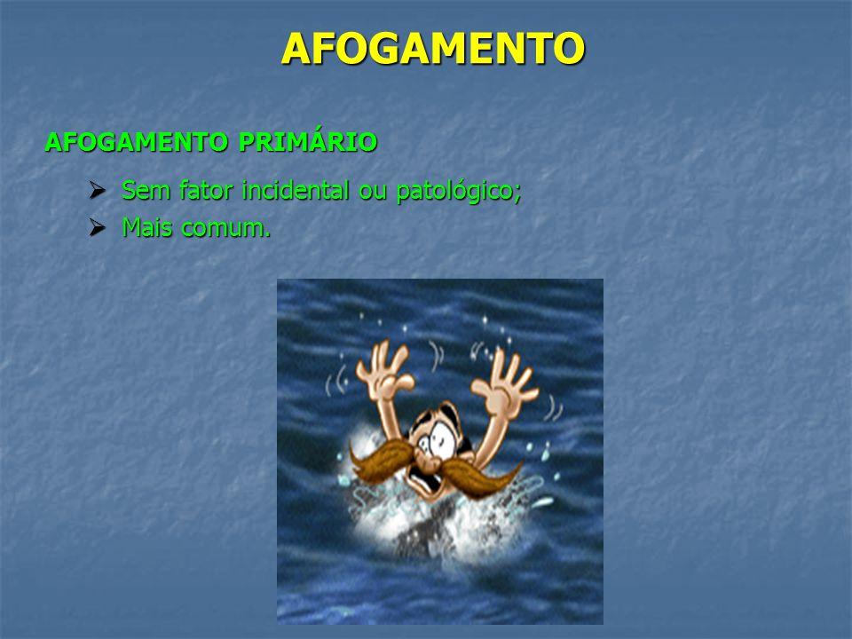 AFOGAMENTO AFOGAMENTO EM ÁGUA DOCE (Rios, tanques, lagos, piscinas, etc) X AFOGAMENTO EM ÁGUA SALGADA (Mar) AFOGAMENTO EM ÁGUA SALGADA (Mar) Prognósti