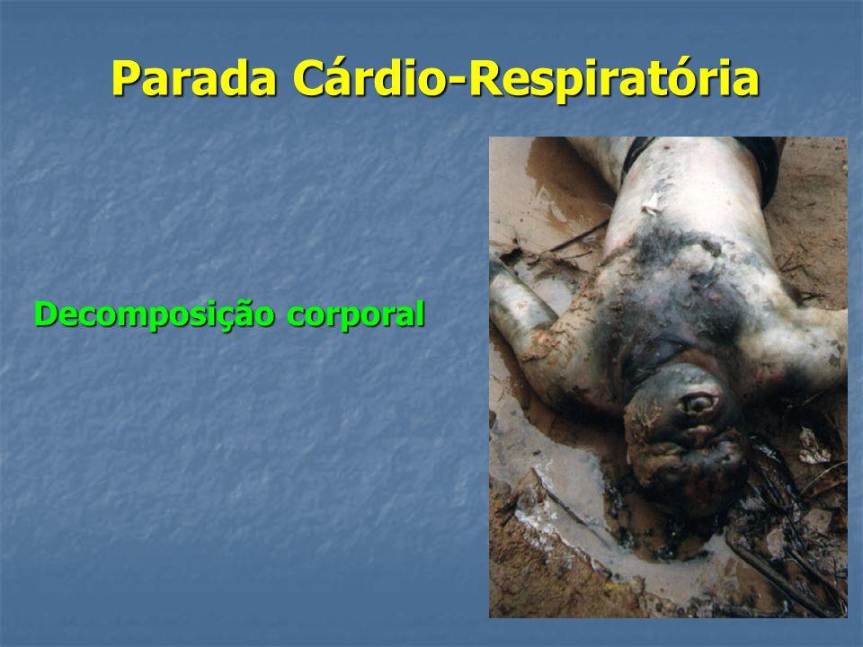 Parada Cárdio-Respiratória Livores