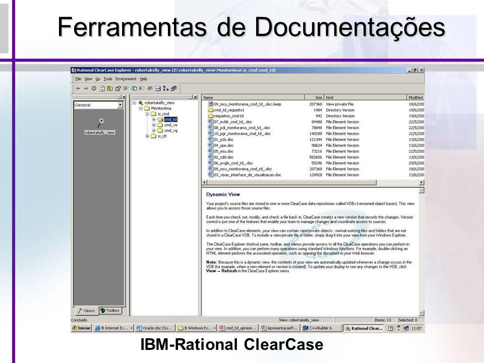 Ferramentas de Documentações IBM-Rational ClearCase