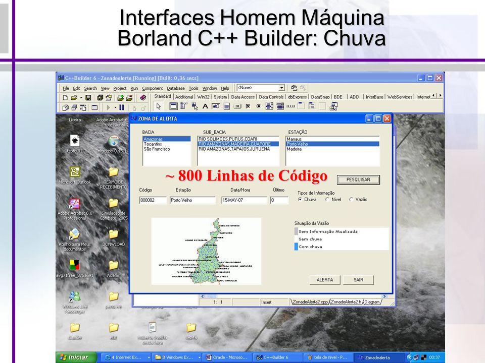 Interfaces Homem Máquina Borland C++ Builder: Chuva ~ 800 Linhas de Código