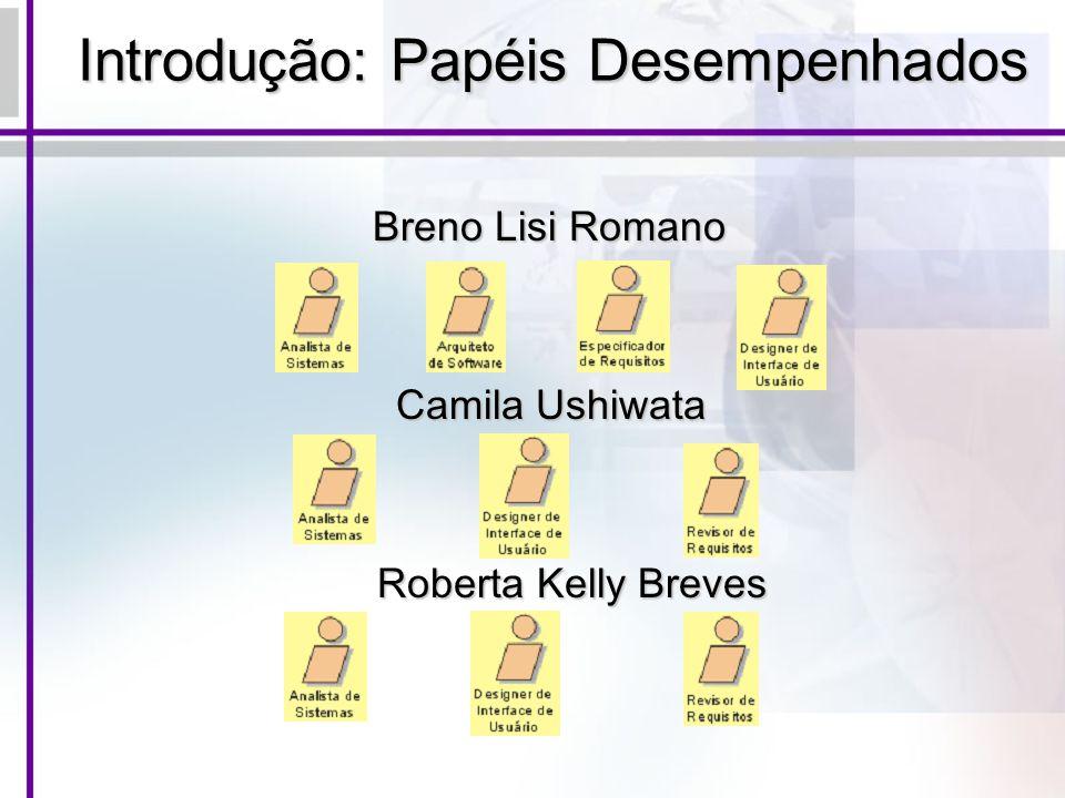 Introdução: Papéis Desempenhados Breno Lisi Romano Camila Ushiwata Camila Ushiwata Roberta Kelly Breves Roberta Kelly Breves