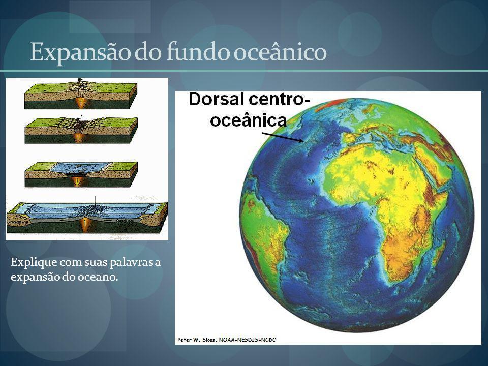 Expansão do fundo oceânico Explique com suas palavras a expansão do oceano.