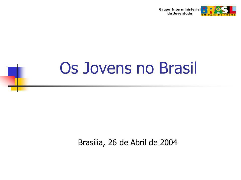 Os Jovens no Brasil Grupo Interministerial de Juventude Brasília, 26 de Abril de 2004