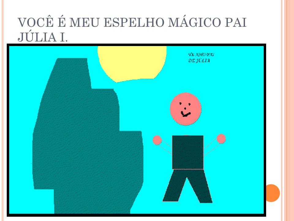 VOCÊ É MEU ESPELHO MÁGICO PAI JÚLIA P.