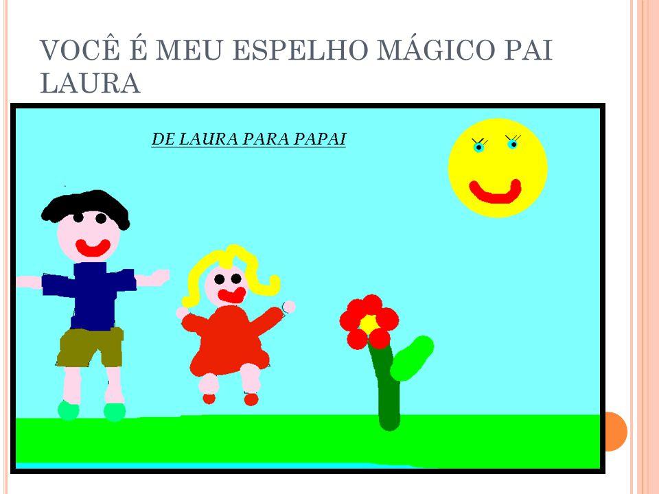 VOCÊ É MEU ESPELHO MÁGICO PAI LARISSA
