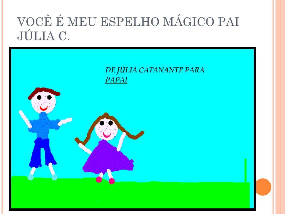 VOCÊ É MEU ESPELHO MÁGICO PAI JÚLIA C.