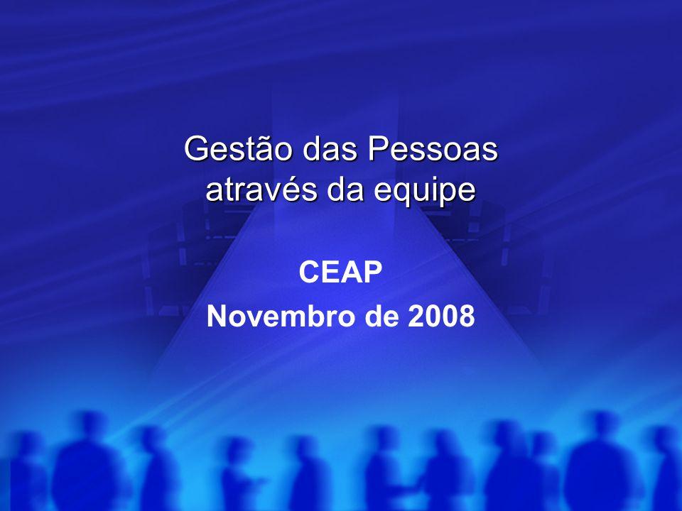 Gestão das Pessoas através da equipe CEAP Novembro de 2008