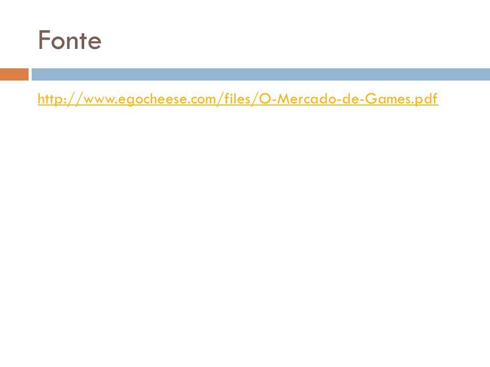 Fonte http://www.egocheese.com/files/O-Mercado-de-Games.pdf