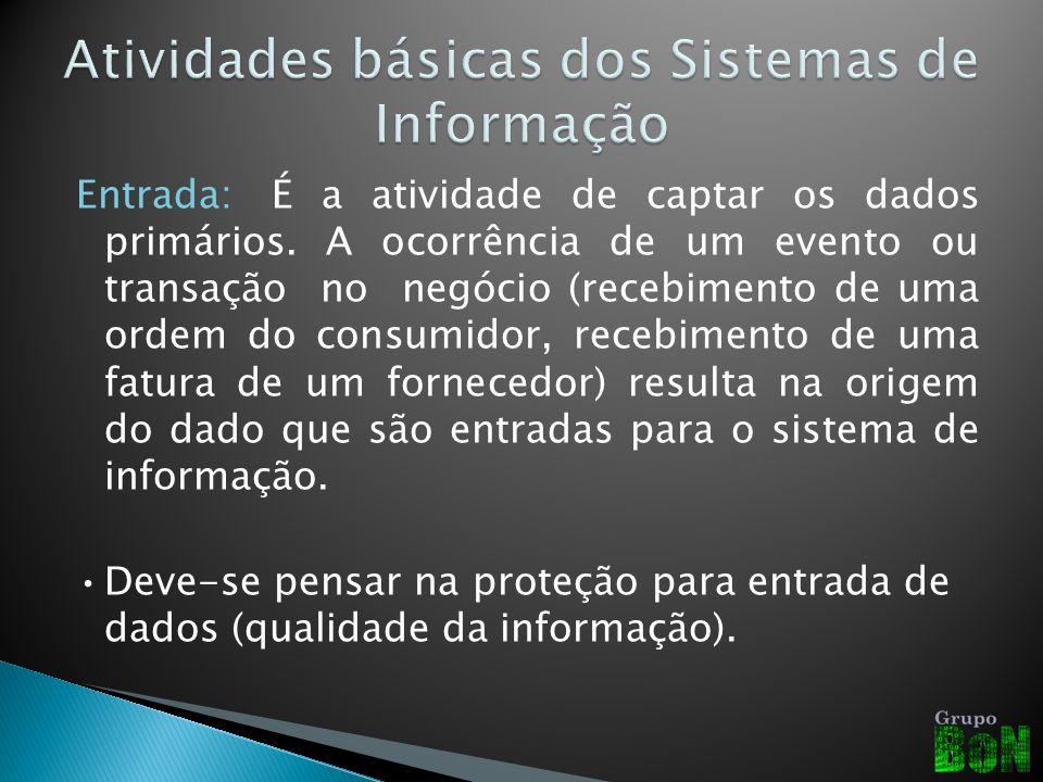 –Processamento: Envolve a conversão ou transformação dos dadosem saídas úteis.