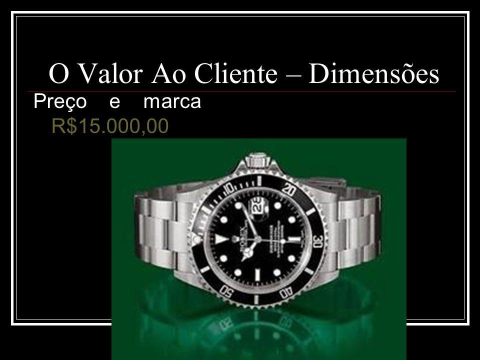 Rogério Flores O Valor Ao Cliente – Dimensões Preço e marca R$15.000,00