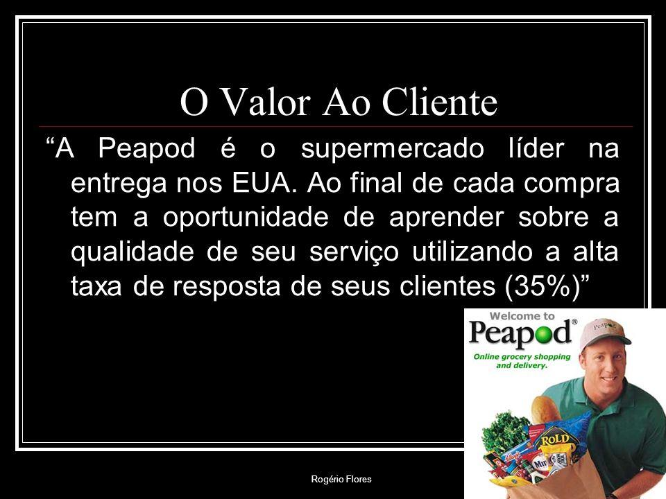 Rogério Flores O Valor Ao Cliente A Peapod é o supermercado líder na entrega nos EUA. Ao final de cada compra tem a oportunidade de aprender sobre a q