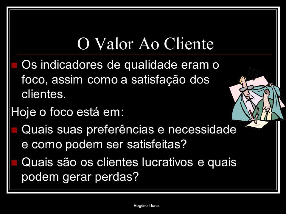 Rogério Flores O Valor Ao Cliente O por quê é o que importa: O cliente valoriza mais os preços menores do que os serviços eficientes de suporte.