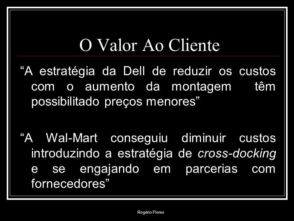 Rogério Flores O Valor Ao Cliente Valor ao cliente é a maneira com que o cliente percebe as ofertas da empresa, incluindo produtos, serviços e outros bens intangíveis.