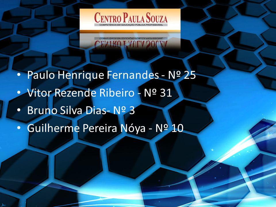 Paulo Henrique Fernandes - Nº 25 Vitor Rezende Ribeiro - Nº 31 Bruno Silva Dias- Nº 3 Guilherme Pereira Nóya - Nº 10