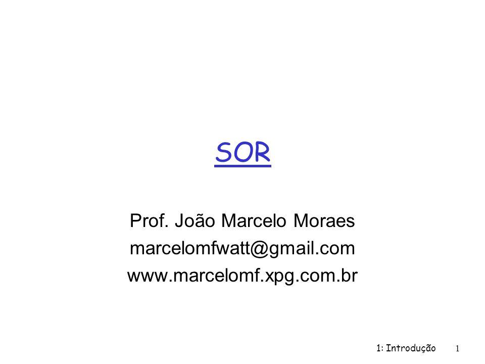 1: Introdução1 SOR Prof. João Marcelo Moraes marcelomfwatt@gmail.com www.marcelomf.xpg.com.br