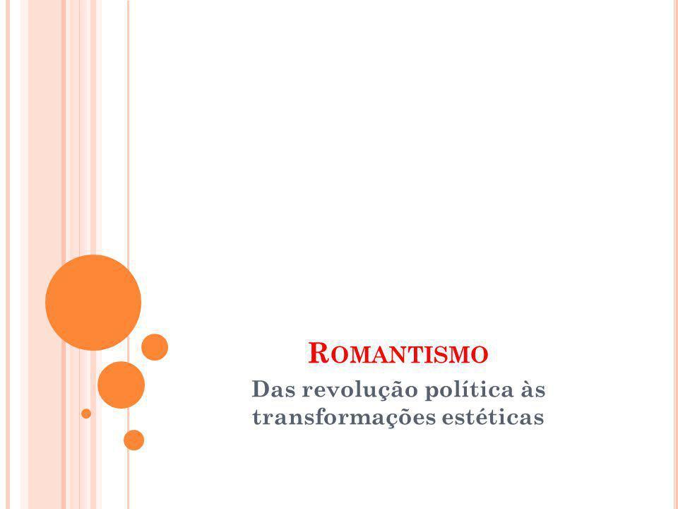 R OMANTISMO Das revolução política às transformações estéticas