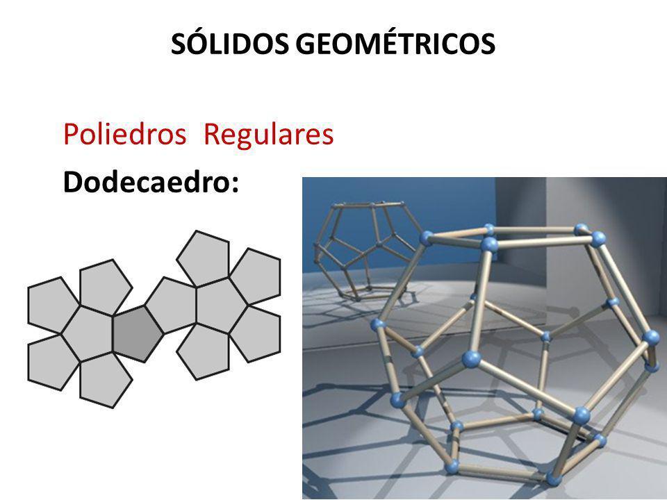 SÓLIDOS GEOMÉTRICOS Poliedros Regulares Dodecaedro: