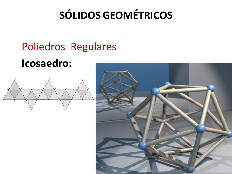 SÓLIDOS GEOMÉTRICOS Poliedros Regulares Icosaedro:
