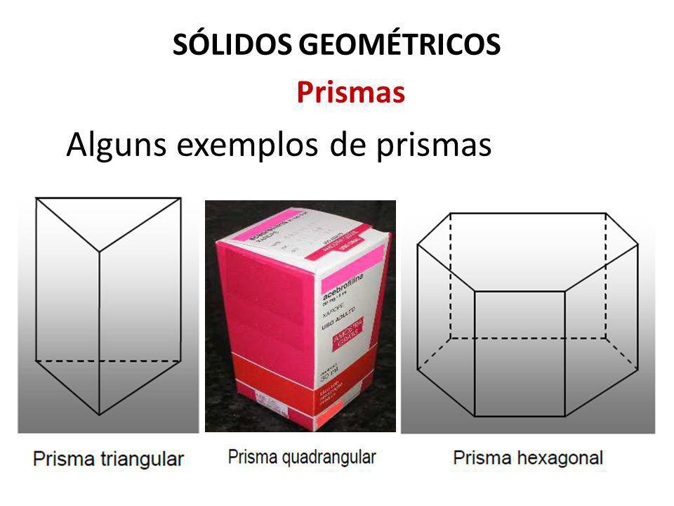 SÓLIDOS GEOMÉTRICOS Prismas Alguns exemplos de prismas