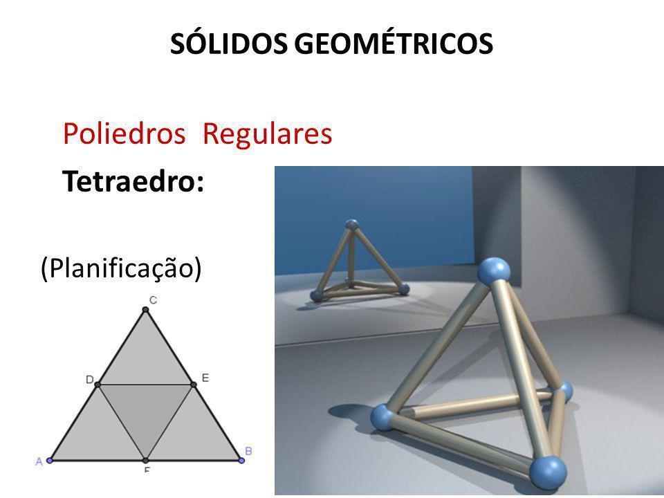 SÓLIDOS GEOMÉTRICOS Poliedros Regulares Tetraedro: (Planificação)