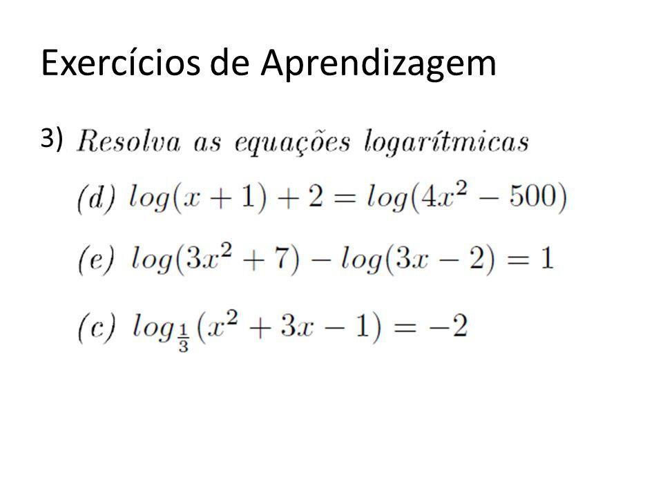 Exercícios de Aprendizagem 3)